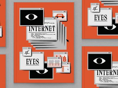 Internet of Eyes editorial illustration illustration cover computer windows data internet of eyes internet eyeballs eyeball eye