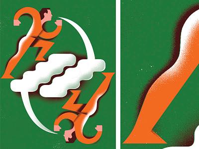 Graceful Argument word bubble conversation discussion argument arguing editorial illustration illustration