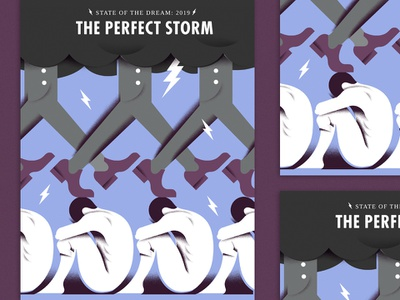 The Perfect Storm [Cover] sadness lightening storm grain cover illustration