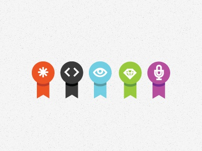 Blog Post Types asterisk code html css php eyeball diamond microphone badges tinyhouse