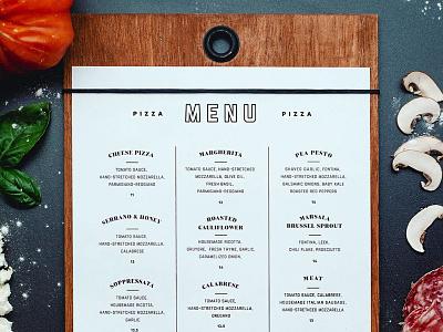 Mozz Menu mozz typography pizza menu pizza