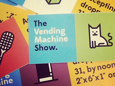 Vending Machine show flyers  flyers dva illustration vector geometric edmondsans losttypecoop losttype cat top-hat