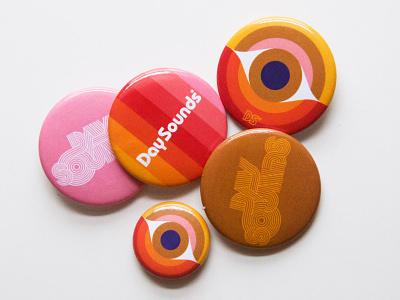 Day Buttons™ rockandroll psychedelic branding logo pins buttons merchandise merch