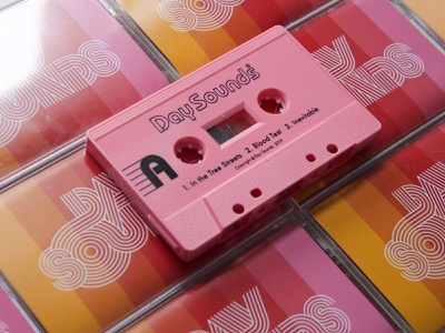 Tape-a-delic! day sounds graphic design psych rock band psychedelic rock and roll merch music tapes cassette tape