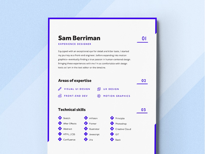 My 2018 Resume personal brand a4 print resume