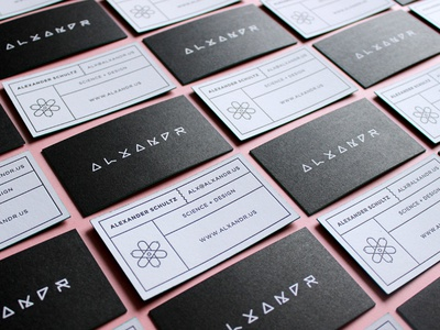 Alxandr Business Cards