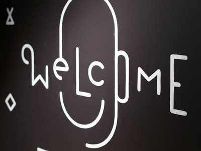 Welcome Mural right way signs mural illustration alxandr braintree bt sign painting welcome type typography