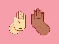 High five, brah