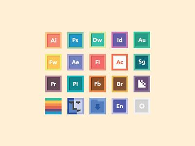 Free Icon Set 1.0 icon icons iconography minimal free download free icons flat pastel finder osx ui