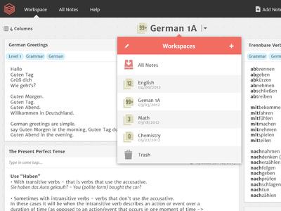 Workspace interface
