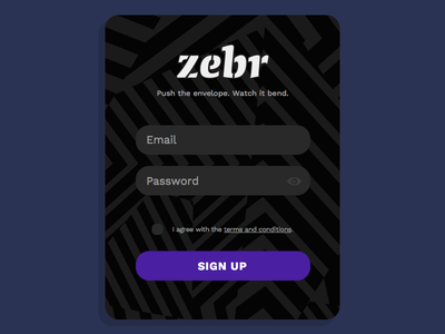 Daily UI #001 - Sign Up sign in sign up interface razzle dazzle daily ui