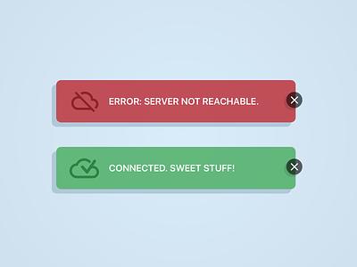 Daily UI #011 - Flash Message (Error/Success) success error flash message daily ui dailyui