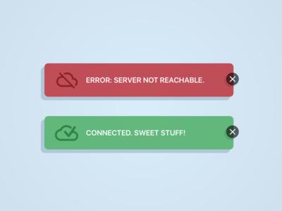 Daily UI #011 - Flash Message (Error/Success)