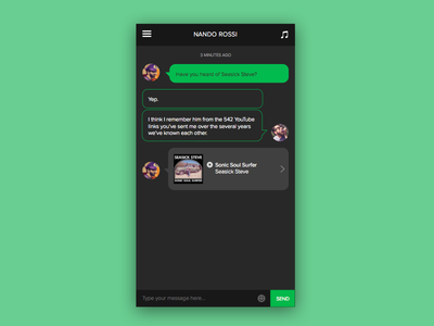 Daily UI #013 - Direct Messaging mobile spotify music messaging daily ui dailyui