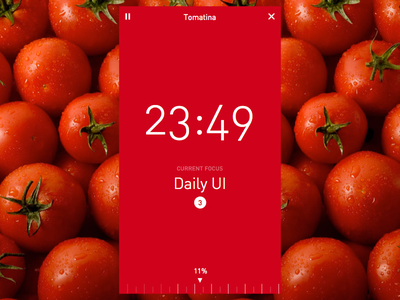 Daily UI #014 - Countdown Timer flat clean mobile app pomodoro daily ui dailyui