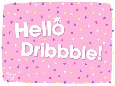 Debut Confetti transgender queer genderqueer illustration vector hello hellodribbble confetti flat debut first shot