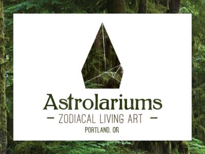 Astrolariums Logo logo design brand identity forest trees portland geometric terrarium zodiac astrology branding logo