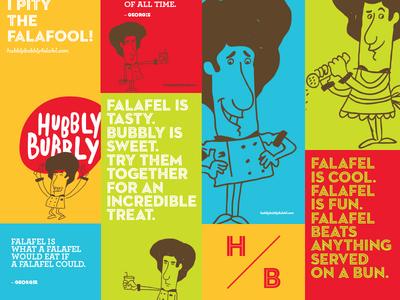 Hubbly Bubbly Falafel Shop Graphics