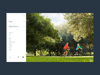 Expandable Menu hover state animation photo slide out hamburger menu rollover navbar menu