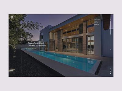 E2 Animation Test website animation homepage builder architecture website concept navigation hamburger menu menu transition web ui