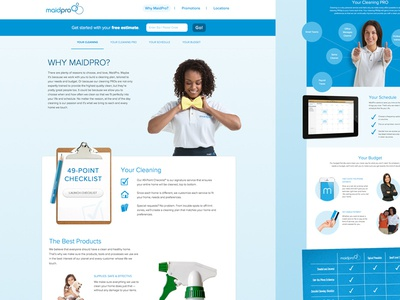 Maidpro site Redesign