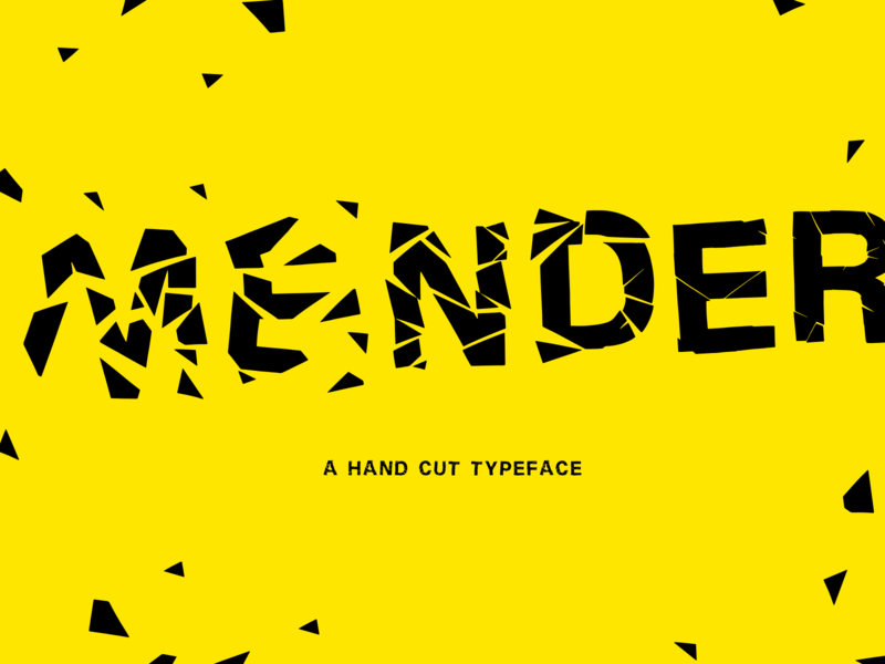 Mender Typeface letterforms letterform healing pain hurt damaged recover free mender broken cut slice typography display font