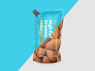 Healthy Snack Brand ingredients snacks healthy butter almond colorful logo keto nuts branding packaging