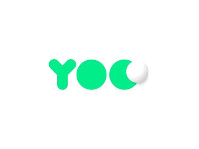 Youth On Course logotype branding golf ball golfing youth kids logo design lapel app signage bubble type ball green brand logo golf