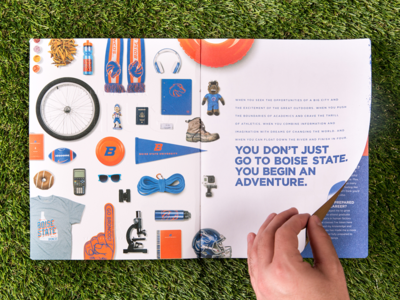 Bosie State Campaign broncos idaho boise branding collateral education college view book