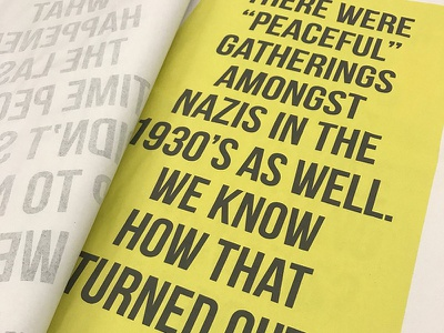 Holocaust Ad Campaign racism campaign ad newsprint print yellow bebaus type holocaust
