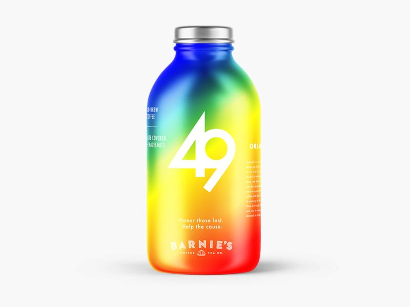 49 Cold Brew rainbow futura beverage container bottle retail coffee pulse orlando 49 lgtb brew