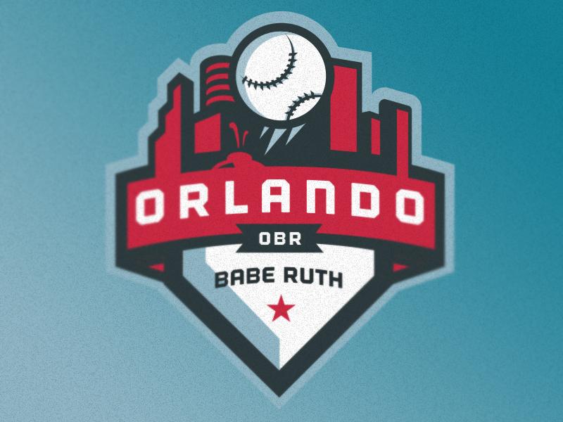 Orlando Babe Ruth Identity orlando baseball sports logo city home plate blue red american patch