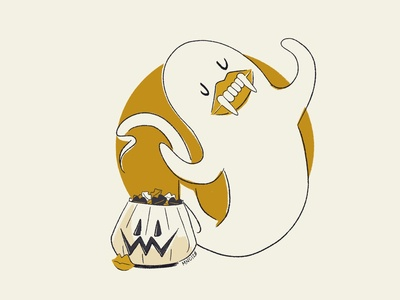 02 Wax ghost character design character vintage mid century retro design illustration aughostus gloom aughost