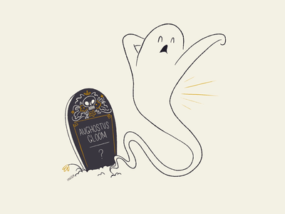 03 Confine mid century vintage retro character design stretch grave confine ghost aughostus gloom aughost
