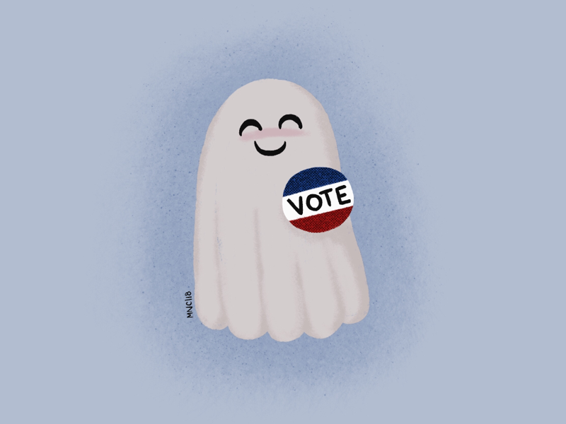 Don't boo  Vote  by Monika Norcross-Cerminara on Dribbble