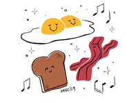 Eggs, Bacon, and Toast