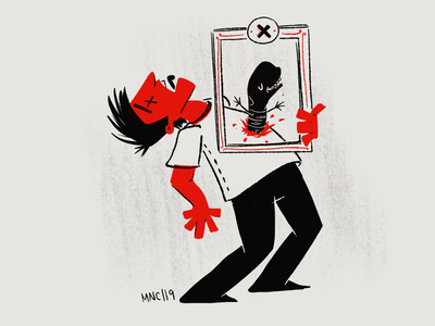 X is for XENOMORPH alien xenomorph mid century vintage retro illustration character design abc of horrors