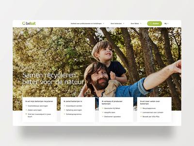 Bebat.be - home bebat recycling batteries homepage webdesign animation website design
