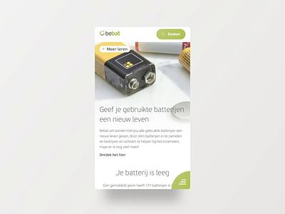 Bebat - menu hamburger menu hamburger menu batteries bebat animation web website design