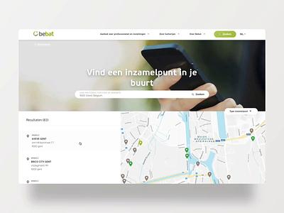 Bebat - map vuejs google maps map batteries bebat minimal animation ui website ux web design