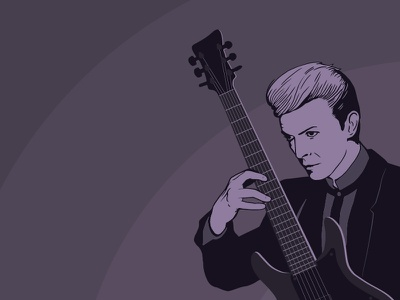 A Tribute to David Bowie illustrator illustration drawing design