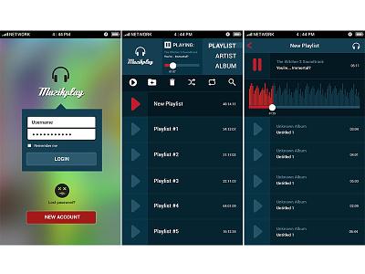 Muzikplay App Design #1 photoshop interface application app