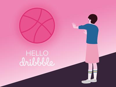 Hello Dribbble vector eleven stranger things illustration debut