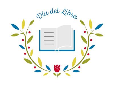 Día del Libro rose day book illustration