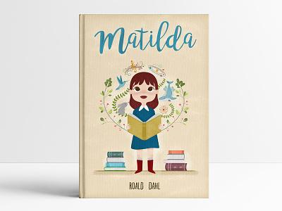 Matilda mockup roald dahl matilda childish illustration
