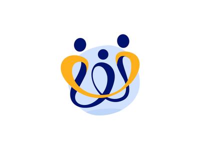 Family Logo privileged school nutrition home care foster childcare child logo family non-profit community