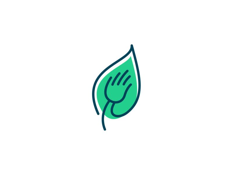 Drouin Osteopathy Logo design logo design logo sensitive readjustments manual medicine osteopathy nature fingers leaf logo green massage hand leaf