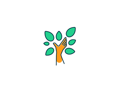 Hand Tree Logo natural glove forest wood tree logo tree nature logo design leaf logo leaf green company app icon hand community branding business design logo