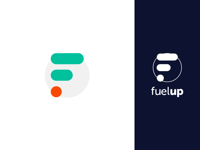 FuelUp Logo drive fuel vector logo design green company blue app icon branding business design logo