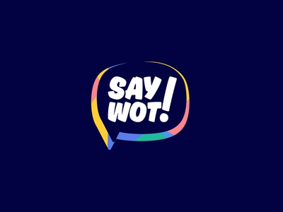 SayWot! Logo design